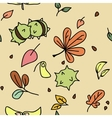 autumn pattern 1 vector image vector image