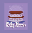 baby shower card with cake vector image vector image