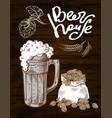 beer hops mug sack