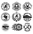 bicycle set labels badges logos etc vector image