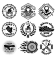 Bicycle set of labels badges logos etc vector image vector image