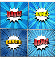 big collection of bang comic wording vector image vector image