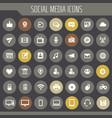 big social media icon set trendy line icons vector image vector image