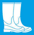 boots icon white vector image vector image