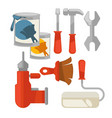 building tools colorful set isolated on vector image vector image