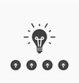 bulb icon simple sign business vector image