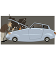 Car broke down vector image vector image