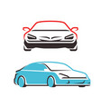 car symbol transport automobile logo vector image vector image