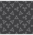 Chemistry dark pattern vector image