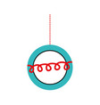 christmas beautiful ball hanging decoration vector image