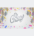 christmas party poster template and happy new vector image vector image