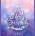 christmas purple bg vector image vector image