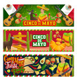 cinco de mayo mexican party mariachi with guitar vector image vector image