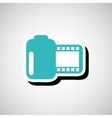 cinema film roll vector image vector image