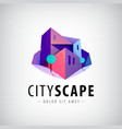 city buildings 3d colorful modern logo vector image vector image