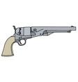 classic wild west revolver vector image vector image