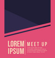 cool colorful background design card for meet up vector image vector image