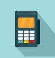 credit card reader icon flat style vector image