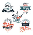 day of the dead logo with lettering set vector image vector image