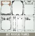 Decorative Art Nouveau Frames vector image