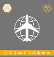 earth and airplane logo graphic elements for vector image vector image