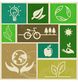 ecology signs and icons vector image vector image