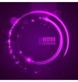 Energy abstract glow light circles vector image vector image