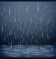 falling rain realistic background vector image vector image