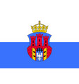 flag of krakow poland vector image