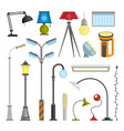 flat electric lantern city lamp street urban vector image vector image