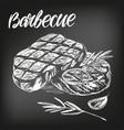 food meat steak roast set calligraphic text vector image vector image