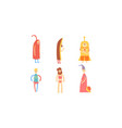 freak men in funny costumes collection freaky vector image vector image