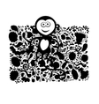 Funny monkey for your design vector image vector image