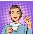 Girl with a Cup of tea or coffee vector image vector image