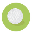 Golf ball icon vector image vector image