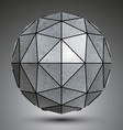 Grayscale galvanized 3d sphere created with vector image vector image
