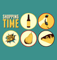 grocery store information sign set vector image vector image