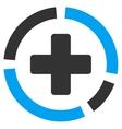 Health Care Diagram Icon vector image