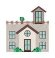 home building icon vector image