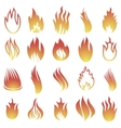 Hot Fire Icons vector image