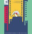 international film festival poster design vector image vector image