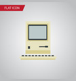 isolated retro notebook flat icon computing vector image vector image