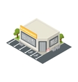 isometric supermarket building icon vector image vector image