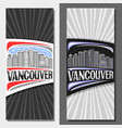layouts for vancouver vector image