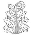 leaf displayed is often used as a design on roman vector image vector image