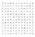 line medicine consepts outline icons set vector image vector image