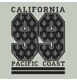Los Angelis CA fashion Typography pacific coast vector image