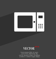 microwave symbol Flat modern web design with long vector image