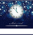new year and christmas concept with vintage clock vector image vector image