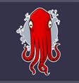 octopus sticker vector image